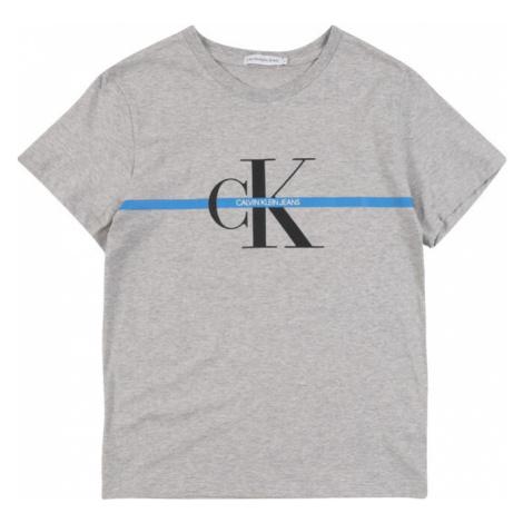 Calvin Klein Jeans Koszulka 'MONOGRAM ' nakrapiany szary