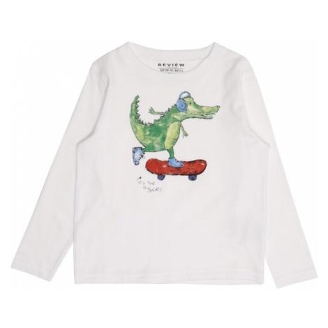 REVIEW FOR KIDS Koszulka 'KB-19-T200' zielony / czerwony / biały