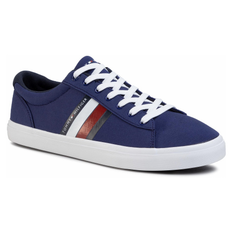 Tenisówki TOMMY HILFIGER - Essential Stripes Detail Sneaker FM0FM02685 Blue Ink C7H