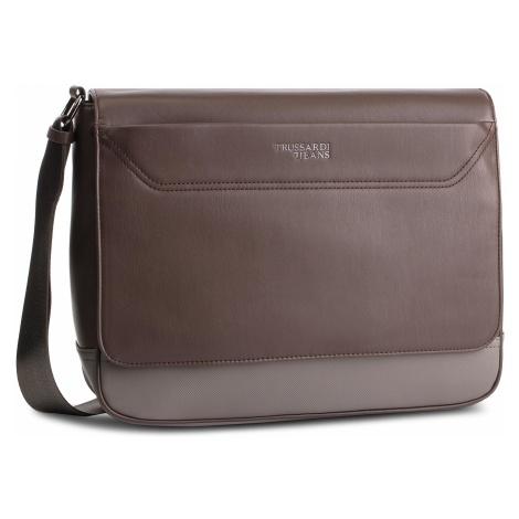 Torba na laptopa TRUSSARDI JEANS - Business Affair Messanger 71B00114 Brwon/Grey B682
