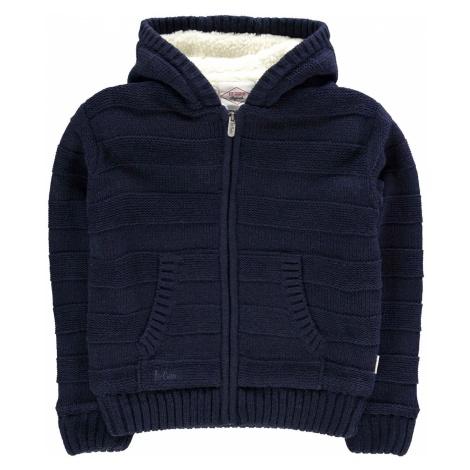 Lee Cooper Stripe Lined Knit Jacket Junior Boys