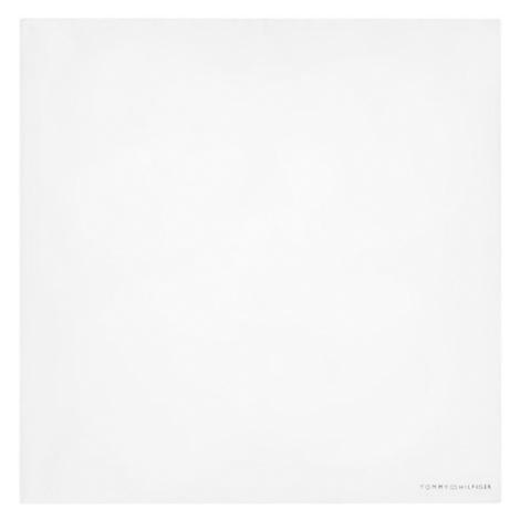 Tommy Hilfiger Poszetka Cotton Solid Pocket Square TT0TT07938 Biały