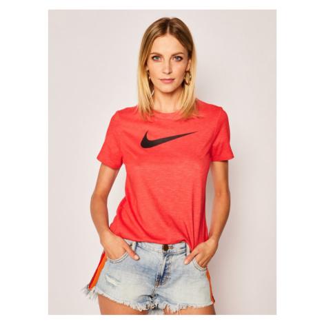 NIKE Koszulka techniczna Dry Tee AQ3212 Czerwony Regular Fit