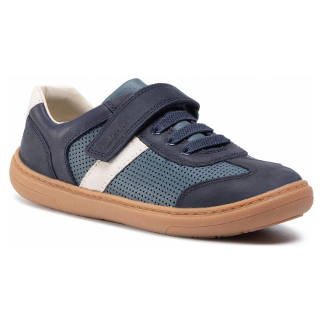 Sneakersy CLARKS - Flash Step K 261495917 Navy Combi Leather
