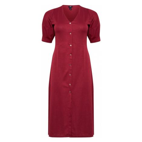 River Island Plus Sukienka ciemnoczerwony