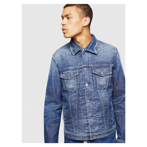 Niebieska dżinsowa kurtka męska Diesel