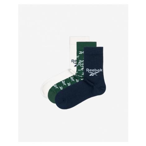 Reebok 3-pack Skarpetki Niebieski Zielony Biały