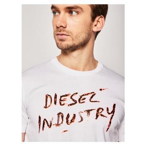 Diesel T-Shirt Diego 00SEFX 0GAYD Biały Regular Fit