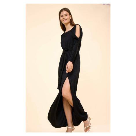 Błyszcząca sukienka maxi Orsay
