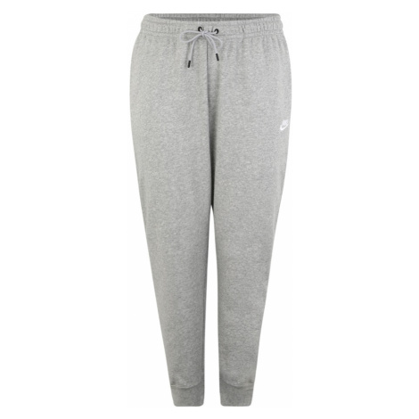 Nike Sportswear Spodnie 'W NSW ESSNTL PANT REG FLC PLUS' szary
