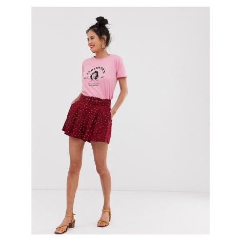 Moon River polka dot belted shorts