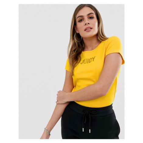 Juicy Couture Black Label juicy slogan ribbed t-shirt