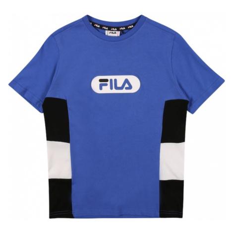FILA Koszulka biały / niebieski / czarny