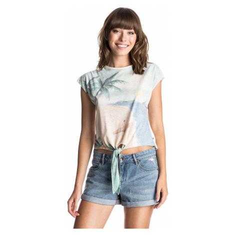 koszulka Roxy White Tattoo Tropical Landscap - WCD0/Sand Piper