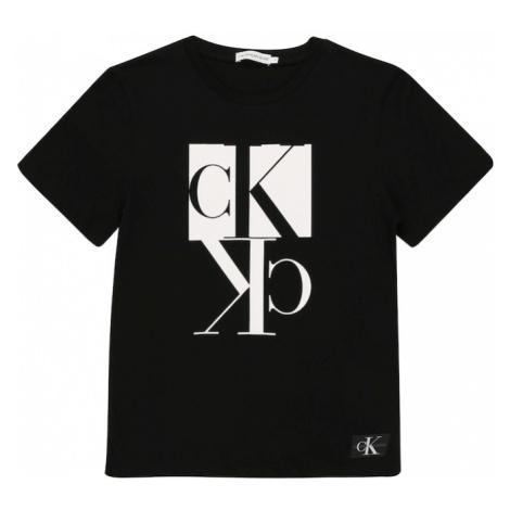 Calvin Klein Jeans Koszulka 'MIRROR MONOGRAM SS T' czarny