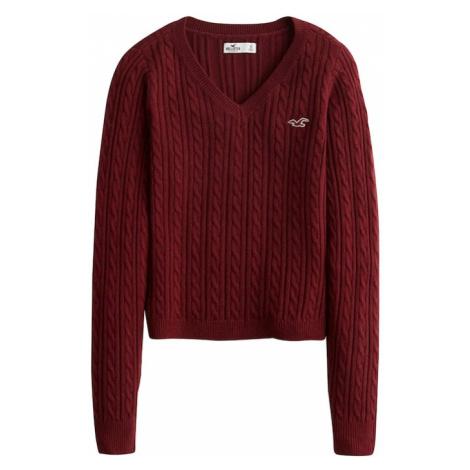 HOLLISTER Sweter burgund