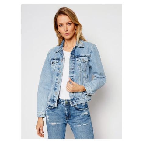 Pepe Jeans Kurtka jeansowa ARCHIVE Rose PL401829 Niebieski Regular Fit