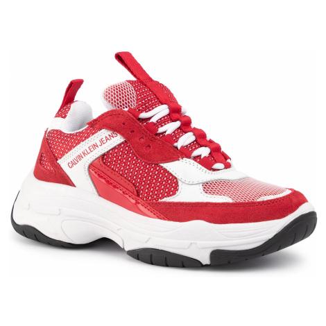Sneakersy CALVIN KLEIN JEANS - Maya B4R0823 White/Red