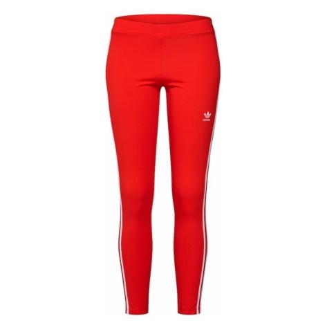 ADIDAS ORIGINALS Legginsy '3 Stripes' czerwony / biały