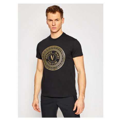 Versace Jeans Couture T-Shirt B3GWA7TE Czarny Slim Fit