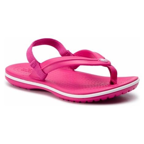 Sandały CROCS - Crocband Strap Flip K 205777 Candy Pink