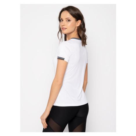 Wilson Koszulka techniczna Team V-Neck WRA770001 Biały Slim Fit