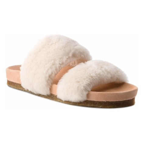 Klapki TORY BURCH - Sheldon Shearling Two 50166 Natural 254
