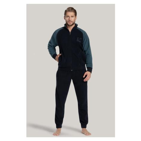 Komplet: sportowa bluza i spodnie James niebieskie