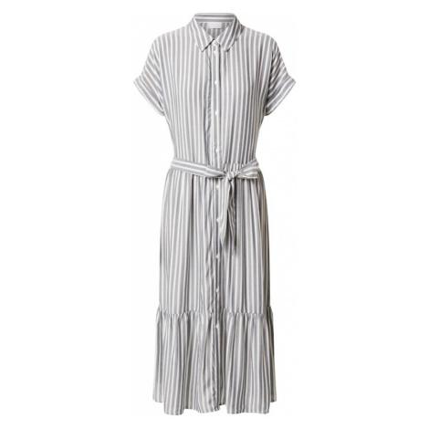 VILA Sukienka koszulowa 'HARPER' szary / biały