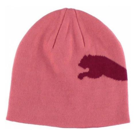 Puma BIG CAT BEANIE JNR różowy UNI - Czapka zimowa młodzieżowa