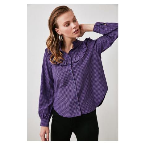 Trendyol Purple Collar Detailed Shirt