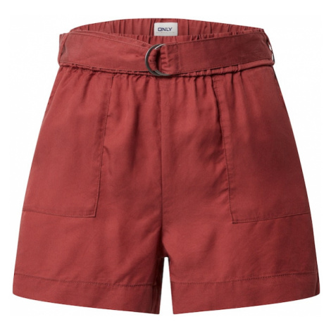 ONLY Spodnie 'ARIZONA' pastelowa czerwień