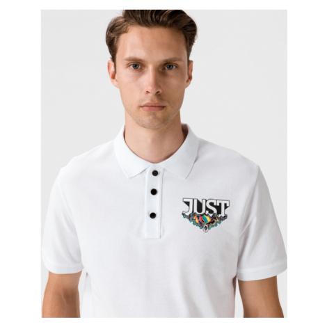 Just Cavalli Polo Koszulka Biały