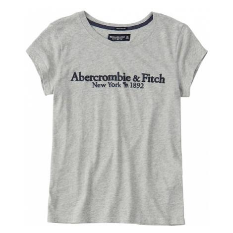 Abercrombie & Fitch Koszulka 'SHORT-SLEEVE LOGO TEE' szary