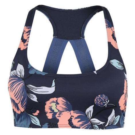 ROXY Sportowa góra bikini 'FITNESS' ciemny niebieski / różowy pudrowy