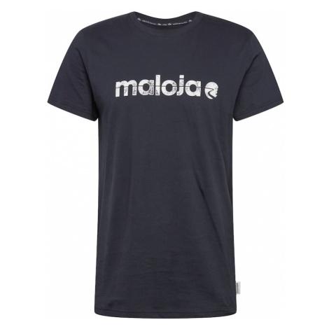 Maloja Koszulka funkcyjna 'Sarpang' biały / niebieska noc