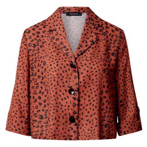 Trendyol Bluzka czarny / rdzawobrązowy