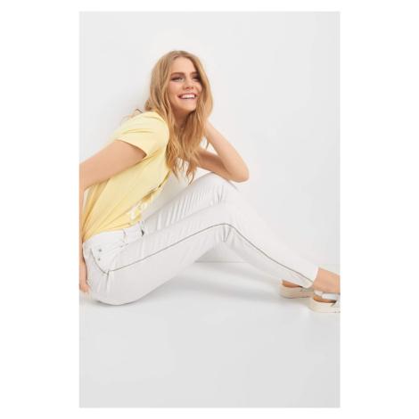 Jeansy skinny z lampasami Orsay