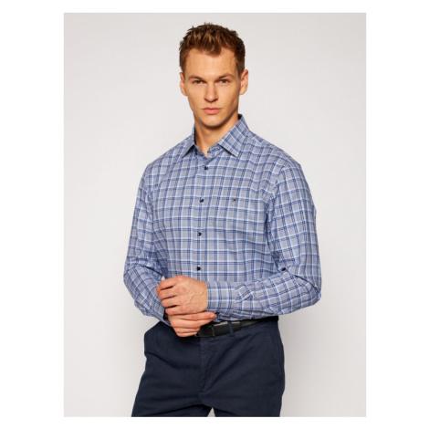 Tommy Hilfiger Tailored Koszula Twill Blue Base Check TT0TT08266 Niebieski Regular Fit