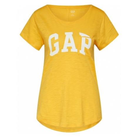 GAP Koszulka żółty / biały