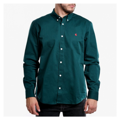 Koszula męska Carhartt WIP Madison Shirt I023339 DARK FIR/MERLOT