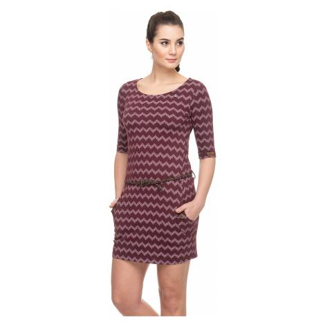sukienka Ragwear Tanya Zig Zag - 4055/Wine Red