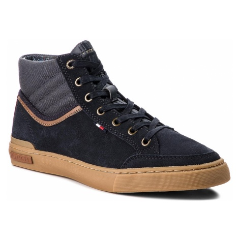 Sneakersy TOMMY HILFIGER - Core Material Mix Mi FM0FM01707 Midnight 403