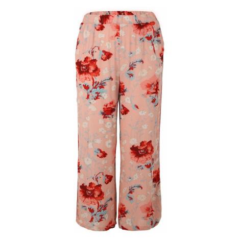 ONLY Carmakoma Spodnie 'Flora Zinnia' mieszane kolory / różowy pudrowy