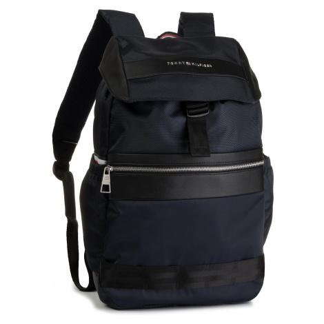Plecak TOMMY HILFIGER - Nylon Mix Flap Backpack AM0AM04768 413