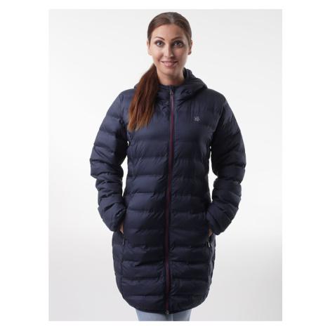 Ciemnoniebieski damski płaszcz z mocą LOAP Itasia