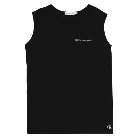 Calvin Klein Jeans Koszulka 'WAFFLE SLEEVELESS TOP' czarny