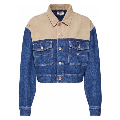 Tommy Jeans Kurtka przejściowa 'Cropped Trucker Jacket' beżowy / niebieski Tommy Hilfiger