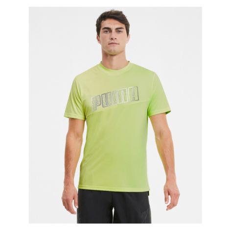 Puma Run Logo Koszulka Zielony