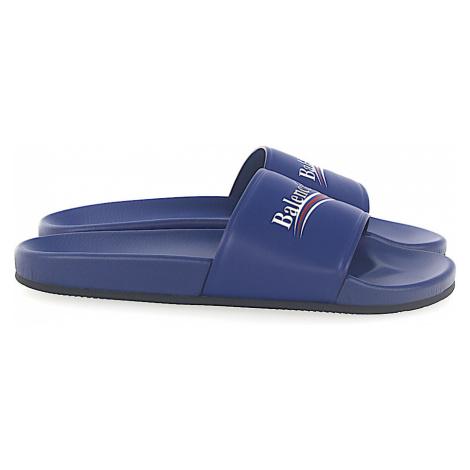 Balenciaga - Buty Sandały WAM00 skóra nappa Logo niebieski